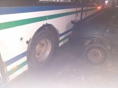 ДТП ВАЗ 2114 и автобус на перекрёстке улиц социалистической и химиков (2)