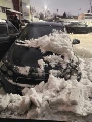 Сход снега с крыши 04.02.2021 года (3)